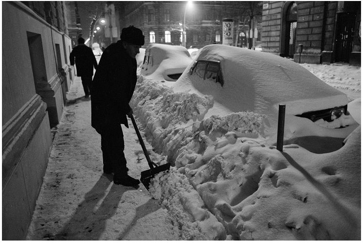 Az 1987 januári nagy hóesés - Ismeretlen fotós