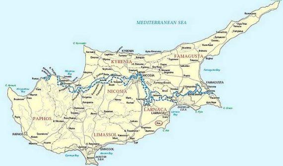 Ciprus térképe