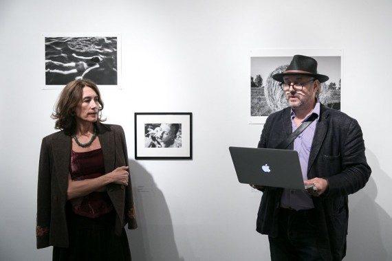 Nadja Massun és Bojár Iván András a kiállításmegnyitón - Capa Központ