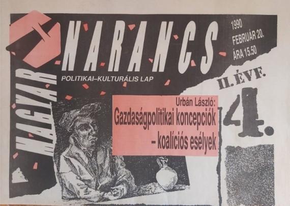 Magyar Narancs anno - fotó: Bojár Iván András