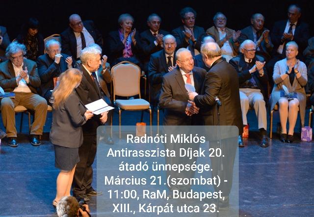 Radnóti díjátadó - fotó: MEASZ