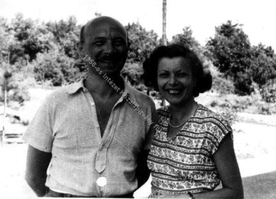 Bozóky Éva férjével, Donáth Ferenccel