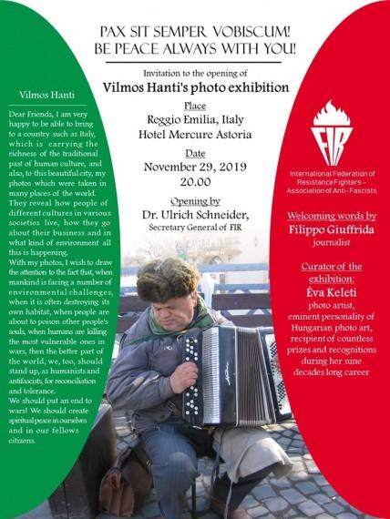 Hanti Vilmos olaszországi fotókiállításának plakátja