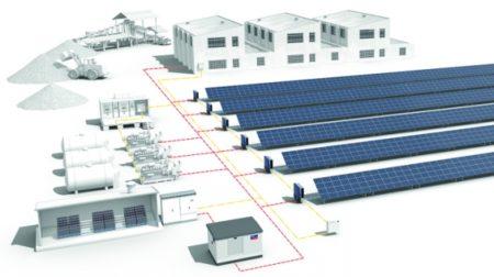 A hibrid napelem erőmű vázlata (pv-tech.org)