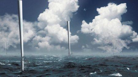 A szélörvények energiáját hasznosító Vortex torony off-shore területeken is telepíthető lesz (vortexbladeless.com)