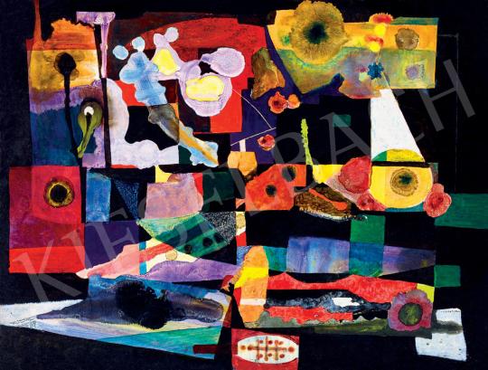 Bojár Iván: Játékos komplexitás, 32,5 x 25 cm, olaj, farost, jelzés nélkül © Bojár Iván András Fotó: Darabos György A Kieselbach Galéria jóvoltából