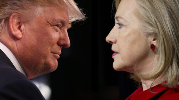 Trump VS Clinton, forrás: CBS Miami