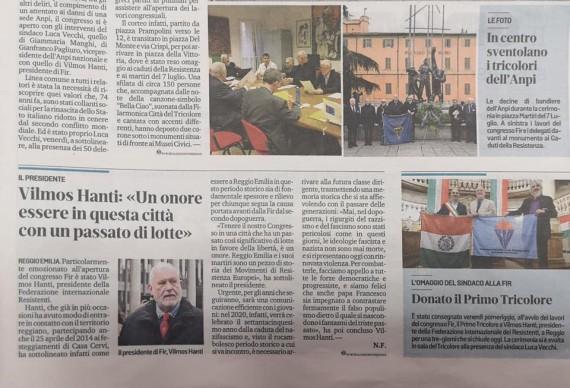 híradás az eseményről az olaszországi lapokban - fotó: nextstopreggio.it