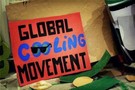 A COY11 (Conference of Youth) klímacsúcsra készített egyik transzparense