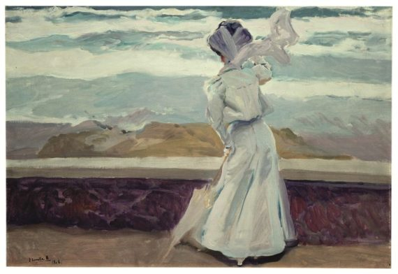Fehér alak. Biarritz, 1906 – Joaquín SOROLLA BASTIDA (1863-1923) (Olaj, 63 x 91,5 cm vászon, Museo Sorolla, Madrid)
