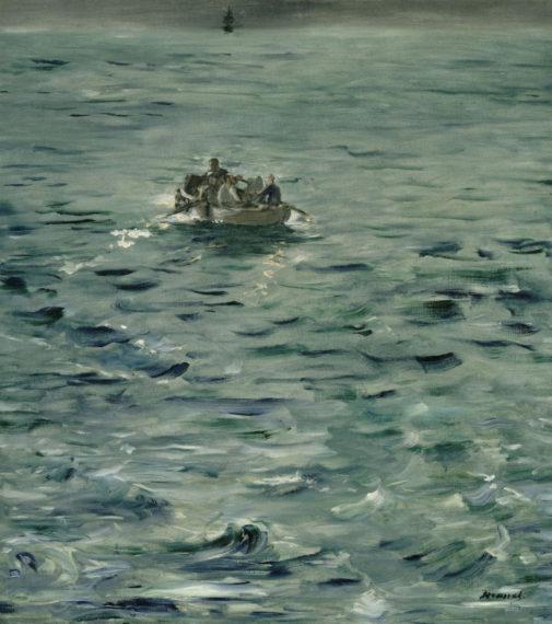 Menekülés Rochefort-ból, 1881 – Édouard MANET (1832-1883) (olaj, 80 x 73 cm vászon, Musée d'Orsay, Párizs)